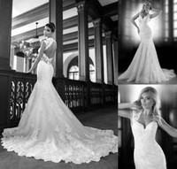 Unbacked lace mermaid wedding dress custom size 6 8 10 12 14 16 18