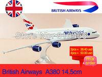 Free Shipping,British airways A380 16cm, metal aeroplane models,airplane model Alloy Plane Model Diecast Souvenir Toy
