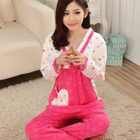 2014 Freeshipping Special Offer Pijama Feminino Pajamas. Sexy Fashion Nightgown. Cotton Long Sleeve Pajamas Household To Take
