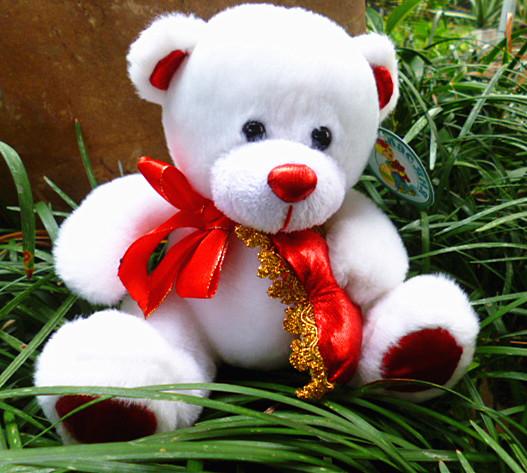 Doll bear plush doll plush toy the first grade fabric(China (Mainland))