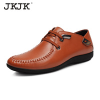 The spring and autumn period and the new low JKJK England for leather men's casual business package mail authentic leather shoes