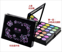 Hot sale retail &wholesale top good Eye Shadow Cosmetic 24 Color Eyeshadow Palette Blusher Concealer and Lip Gloss Free Shipping