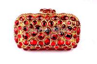 Free Shipping New 2014 Fashion Women Crystal Clutch Bags/ Evening Purses Women Chain Bag