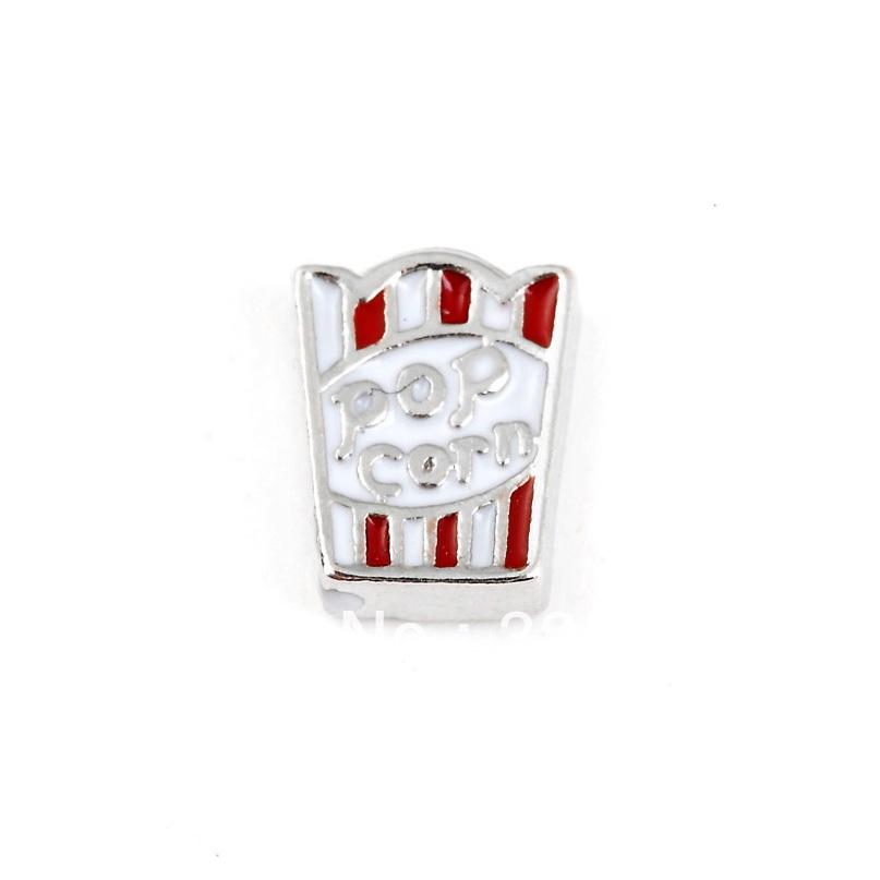 20PCS/LOT pop corn Floating Charm Fits Floating Glass Lockets wholesale(China (Mainland))