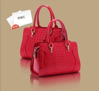 Temperament Women bag 2013 new fashion big crocodile handbag embossed glossy handbags*2045