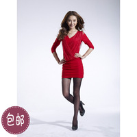Spring and autumn 2014 women's sexy elegant plus size slim hip basic skirt one-piece dress