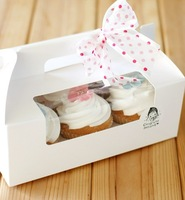 Portable white  cup cake box belt alencar accessories diy thickening