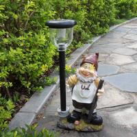 Home accessories resin decoration cartoon figure garden decoration solar lights