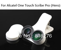 Fisheye wide-angle macro 3 in one photo lens mobile phone lens for Alcatel One Touch Scribe Pro (Hero)