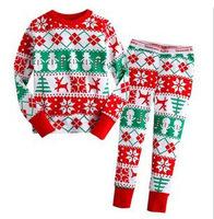 1pc retail 100% cotton kids pajamas family christmas pajamas all in stock