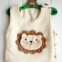 Diy material handmade kit of soft and warm baby vest cartoon infant autumn vest little lion baby vest