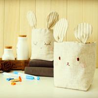 Cloth material diy kit fabric handmade storage basket rustic rabbit storage basket combination