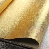 Plain gold flower wallpaper gold foil wallpaper ceiling solid color silver wallpaper
