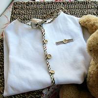 Akkadian handmade diy baby clothes handmade fabric material diy kit classic plaid shirt