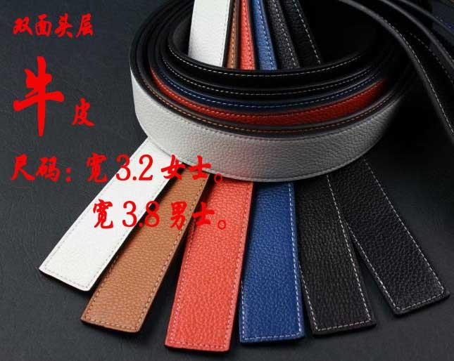 Agings H dupla face genuína cinto banda pulseira de couro azul amarelada laranja marrom 3.2 - 3.8(China (Mainland))