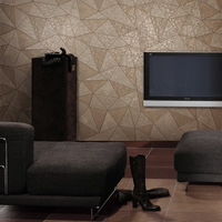 Flower modern brief geometry faux leather wallpaper tv background wall fashion wallpaper