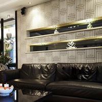 Flower pure paper, wallpaper modern brief geometric figure sofa tv background wall bedroom wallpaper