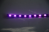 Short Mini 12V Waterproof Purple Motorcycle/Car/Verhicle Light LED Strip Black Flexible PCB  SMD5050 Whole Sale Package 5pcs/lot