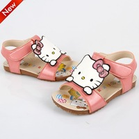 new 2014 Free shipping US 7~9 pink hello kitty summer girls sandals kids children boots shoes