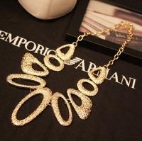 (Min order$10)Free Shipping! Fashion drop geometry irregular metal necklace fashion female short design necklace #NS1170