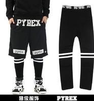 10 Pcs/lot PYREX BIGBANG G-D RAGON original tidal wave of brand men and women couple Skinny Legging Cotton Leggings
