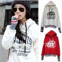 Free shipping 2014 Woman fashion Sweatshirt Fleece Hoodies Coat letter Jacket outerwear women pullover hoodies