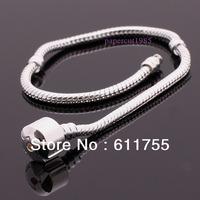 1PCS 3MM Snake chain for Charm Bracelet 925 Silver Plated for pandora European Bracelet H0025 Mix Order $10 Free Shipping