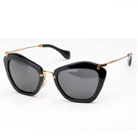 10 Color Acetate Frame smu 10ns Round Charm Cat Eye Metal Designer Sunglasses Retro Women Luxury Oculos Glasses Original Box