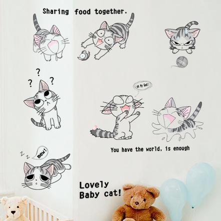 Cartoon sticker child bedroom wardrobe furniture decoration wall stickers(China (Mainland))