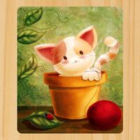 003.Cartoon Kitten Mouse Mat