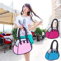 Comic Bag 3D stereo bag, shoulder bag,2D package tide handbags, handbags Korean heart flower bag Women 140207hpnb