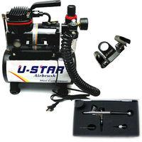 U-STAR U-601G Mini Air Compressor + U-STAR S-120 Airbrush