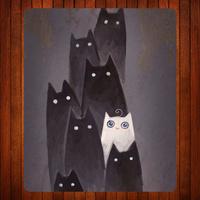 025.Cartoon cats Mouse Mat