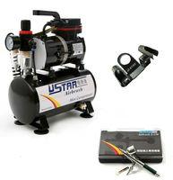 U-STAR U-601G Mini Air Compressor With Tank + U-STAR S-150 Airbrush 0.5mm Nozzle