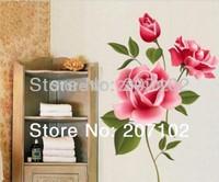 BEST SELLER Removable Wall Vinyl Decal Art Rose Flower DIY Home Decor Wall Sticker YHF-0111