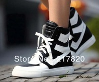 2014 Spring Top Sale  Marant Women Sneakers Wedges Height Increasing Shoes Genuine Leather Platform Casual Fashion Boot