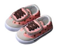 Girls Polka Dot Princess Velcro shoes children canvas shoes for girls