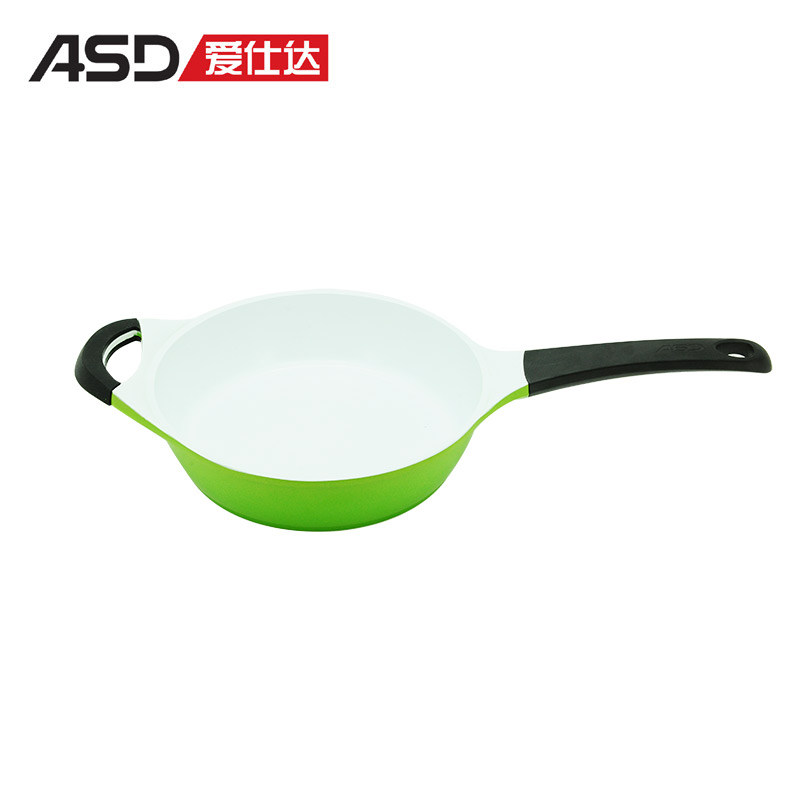 26cm frying pan multicolour ceramic flat wok fried smoke frying pan cooking pan Diameter:26-34CM(China (Mainland))