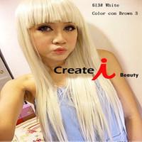 Ladygaga-white wig Liu Qi long straight hair wig wholesale COS nightclub performances