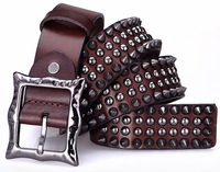 Genuine Leather Vintage Punk Men Belt Cowhide Retro Rivet Studs Hip Belt For Man New 2014 Designer Strap Cinto Ceinture  TBT0088