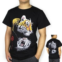 New 2014 Men's 3d Animal Tiger Printed T-Shirt Casual Short Sleeve Brand Sport T Shirt for men big size Free Shipping