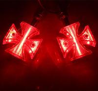 LED RED TURN SIGNAL Bullet LIGHT for Harley Bobber Chopper Cruiser Custom Vulcan VStar Shadow Boulevard Raider Intruder Bike