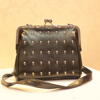 New arrival fashion 2013 fashion skull one shoulder cross-body portable PU ofof the quality women's bag street