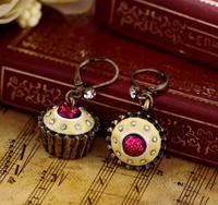Hollywood Designer Jewelry 2014 Fashion Statement Vintage Butyric Cake Crystals Women BJ Asymmetrical Dangle Pierced Earrings