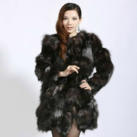 Winter women's 2014 fashion quality medium-long fur overcoat fox fur outerwear