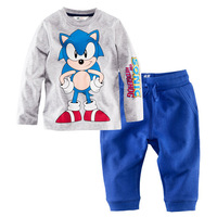 Retail 2-7years high quality 100% top cotton children clothes kids clothes boys child clothes