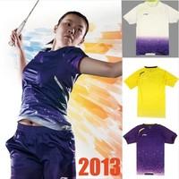 Free to Print Name and Logo 1 Set  Shanghai Open Badminton Championship t-Shirt lining Badminton Clothes  Badminton clothing set