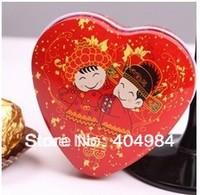 FREE SHIPPING personalized iron box wedding candy box