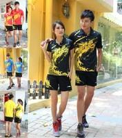 Free to Print Name and Logo 1 Set  lining dragon design badminton Jersey t-shirt shorts Badminton clothing set pants