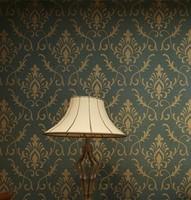 Embossed Vinyl Vintage Damask Wallpaper for Walls Rolls for Living Room Background